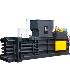 Horizontal semi-automatic hydraulic baler for baling press paper, cardboard and film