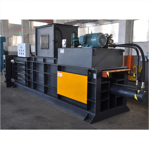 Horizontal semi-automatic hydraulic baler for baling press paper, cardboard and film