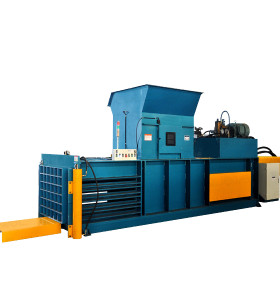 Horizontal semi-automatic hydraulic  baling press cardboard for paper, cardboard and film