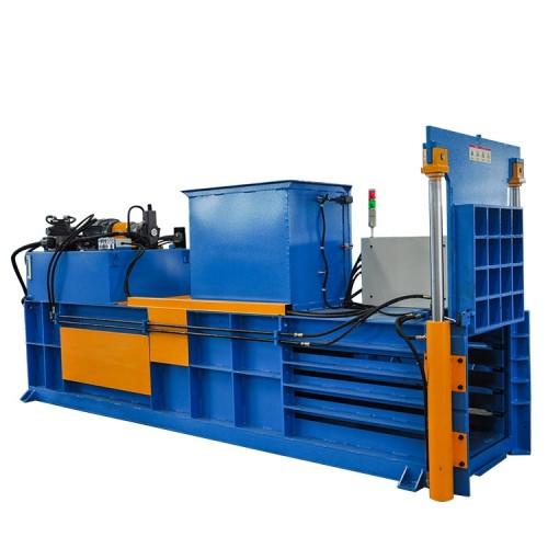 Horizontal semi-automatic hydraulic  baling press cardboard for paper, cardboard and film
