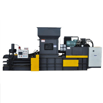 Horizontal Fully Automatic hydraulic Heavy duty baler for paper, cardboard and film waste.