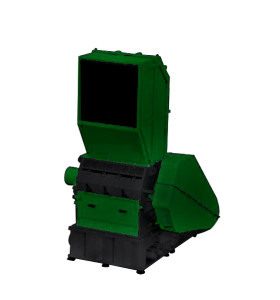 Plastic crusher single shaft shredding machine for recycling applications.