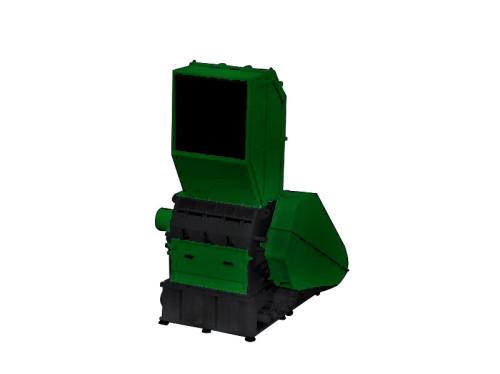 Plastic crusher single shaft shredding machine for recycling applications.