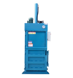 Small-sized vertical hydraulic balers for baling press paper, cardboard and film