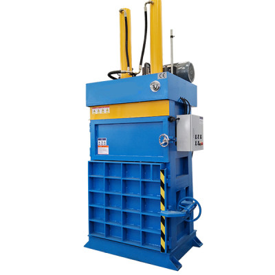 Medium-sized vertical double-cylinder balers for baling press paper, cardboard and film