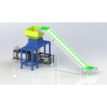 Plastic Bottle shredder and Baler solution