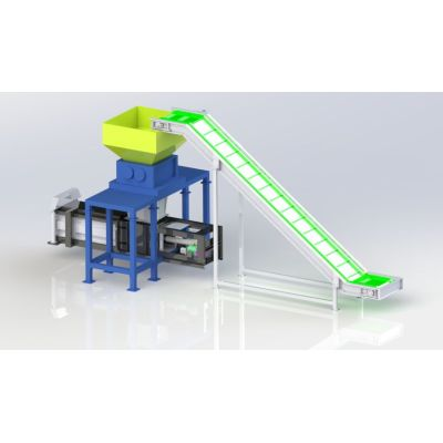Plastic Bottle shredder and Baler solution