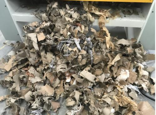 Industrial waste cardboard box and paper core shredder