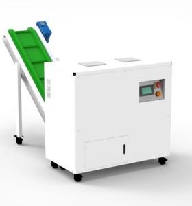 E-waste destruction two shaft HDD shredder with conveyor