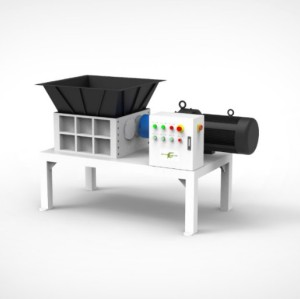 Double shaft shredder for waste metal aluminum scrap recycling
