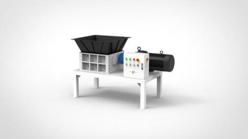 twin shaft metal shredder for waste metal aluminum scrap recycling