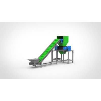 Heavy duty double shaft shredder for plastic wood metal and solid Waste solution two shaft shreddeing machine