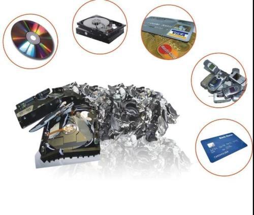 Mobile hard disk shredding machine