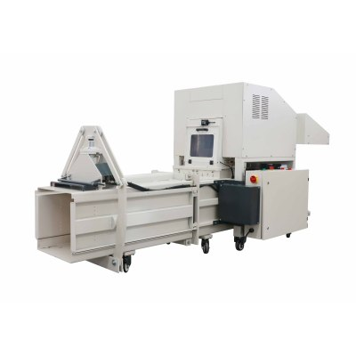 Industrial Paper shredding and baling machine