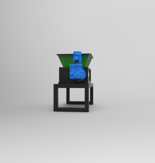 two shaft shredder Small-size For shredding solid waste, E-waste, plastic, metal and wood waste