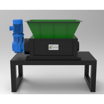 Two Shaft Shredders Small-size For Shredding solid waste, E-waste, plastic, metal and wood waste