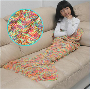 Knitting mermaid crochet sleeping bag