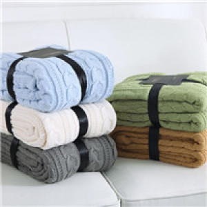 cheap wool acrylic cotton polyester blanket
