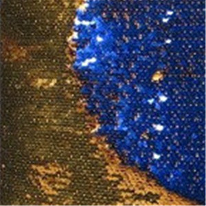 reversible stretch champagne sequin fabric
