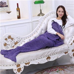 knitted mermaid tail costume blanket
