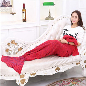 adult mermaid costume tail blanket,red