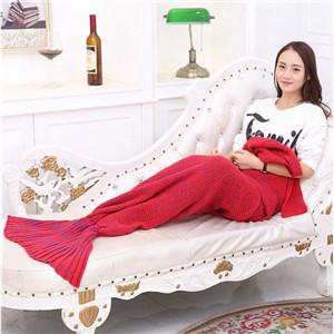 adult mermaid costume tail blanket,red