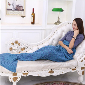 little mermaid tail blanket for children