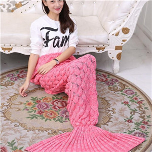 custome mermaid tail blanket knit pattern sleeping bag
