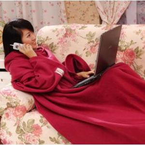 Soft Warm Velvet Snuggie TV Blanket with Sleeves for Lounge,Couch or Bed