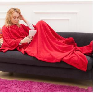 Full Body Character Comfy Throw Blanket with Sleeves