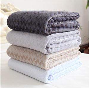 printed fleece blanket ,pure color baby flannel blanket