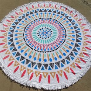 100% cotton custom beach towel
