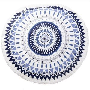 100% cotton Printed Round Beach Towel