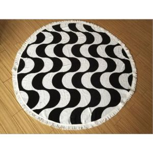 wholesaler cotton custom round beach towel