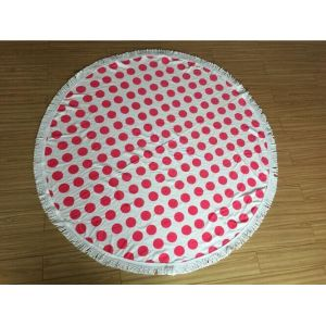 wholesaler compressed custom round beach towel