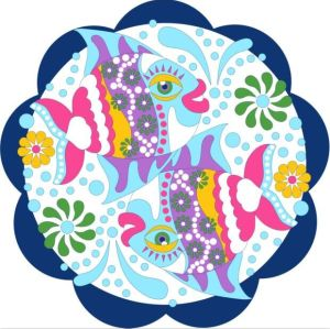 cute fish custom print 100% cotton beach towel