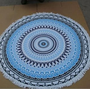custom printed circle pattern  beach towel