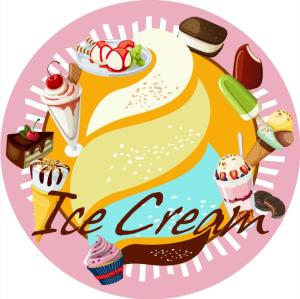 ice cream microfiber printed beach towel round with pillow