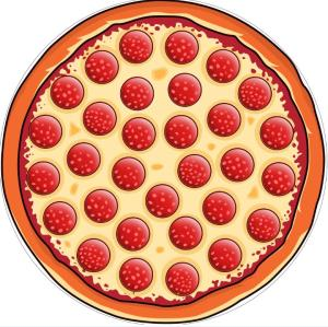pizza digital printing round beach towel
