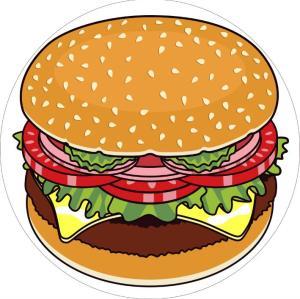Hot sale food pattern digital printing round hamburger beach towel