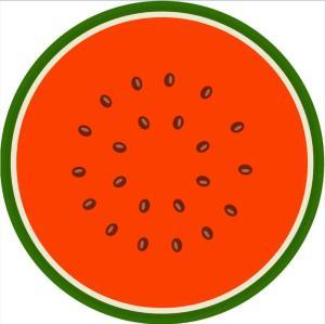 large custom watermelon shaped round beach towel photo