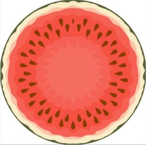 roundie digital printing beach towel custom watermelon