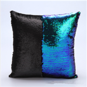 reversible sequin pillow of custom made