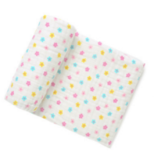 6 layer 100% cotton baby muslin blanket