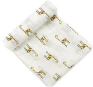 100% cotton muslin swaddle custom print blanket