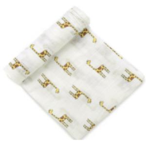 100% cotton muslin swaddle custom print blanket