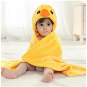 baby bamboo hooded towel/surf hooded poncho towel.yellow duck
