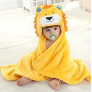 cute baby bamboo hooded towel ,34