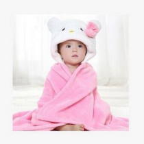 wholesale hooded poncho towel adult/bamboo baby hooded towel,hello kitty