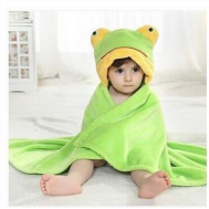 bamboo baby hooded towel and adult hooded beach towel,little frog